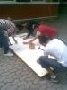 Aufbau einer Boulderwand am BFZ_6
